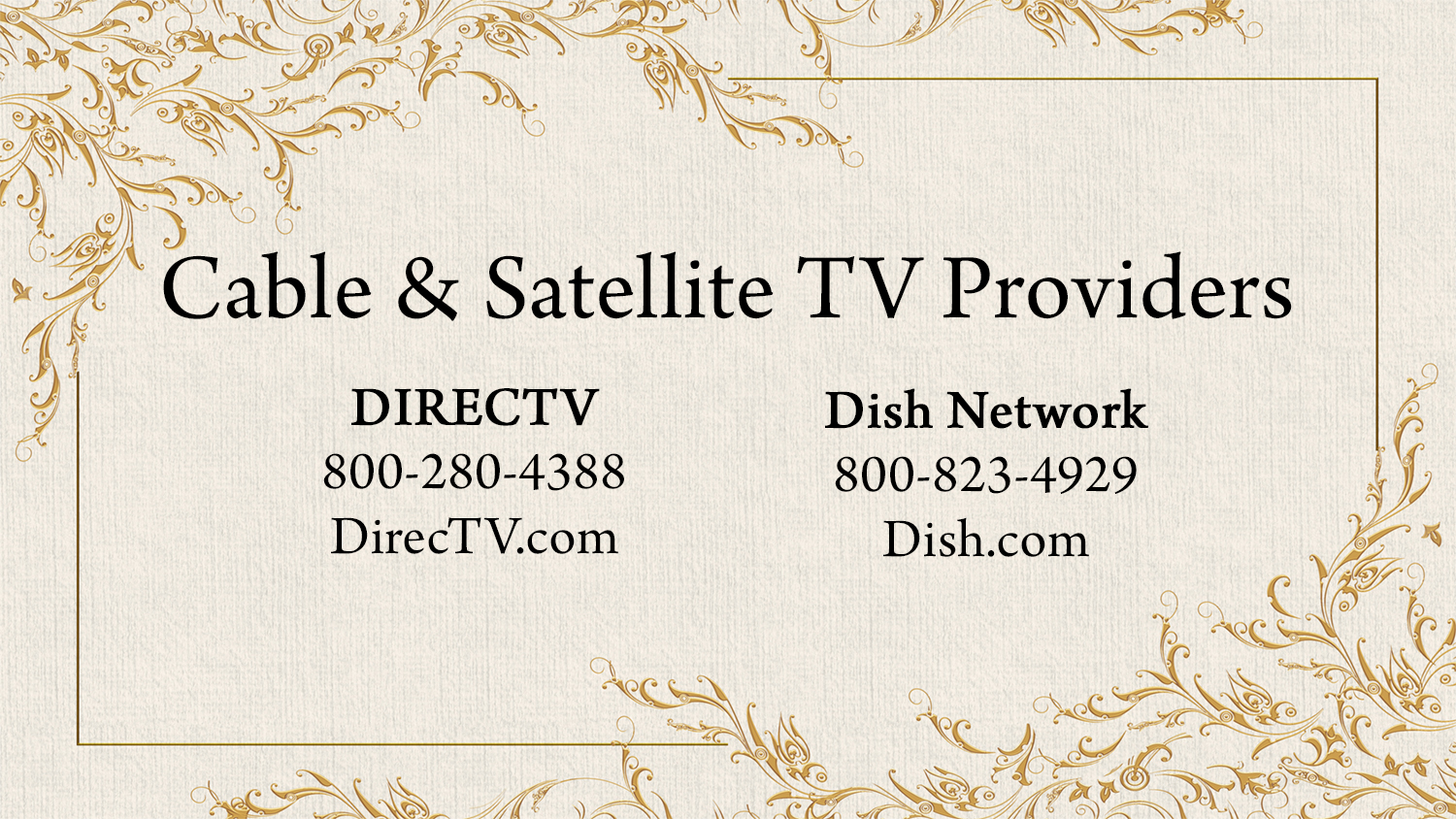 listings cable tv