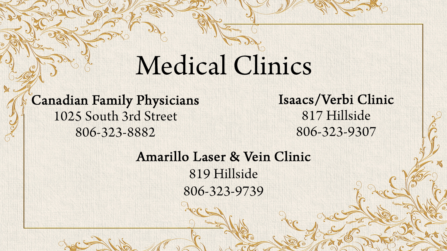 listings medical clinics