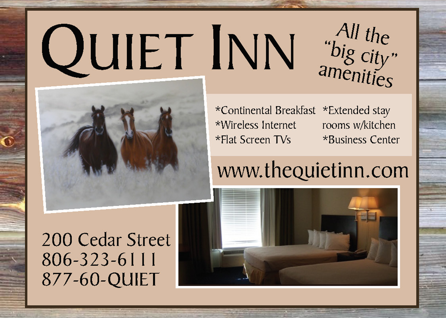 lodging quiet inn