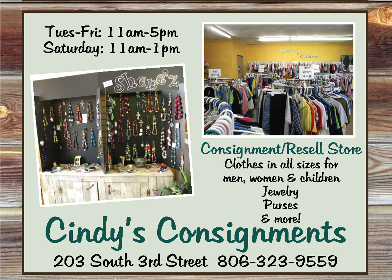 shopping cindys consignments