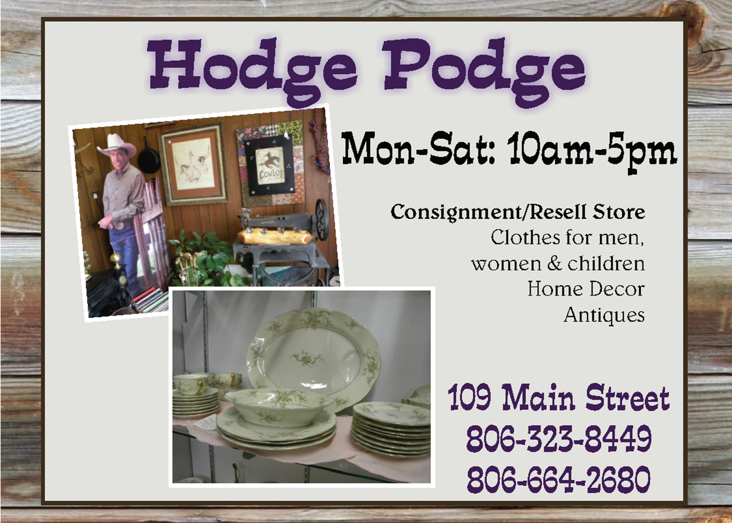 shopping hodge podge consignment