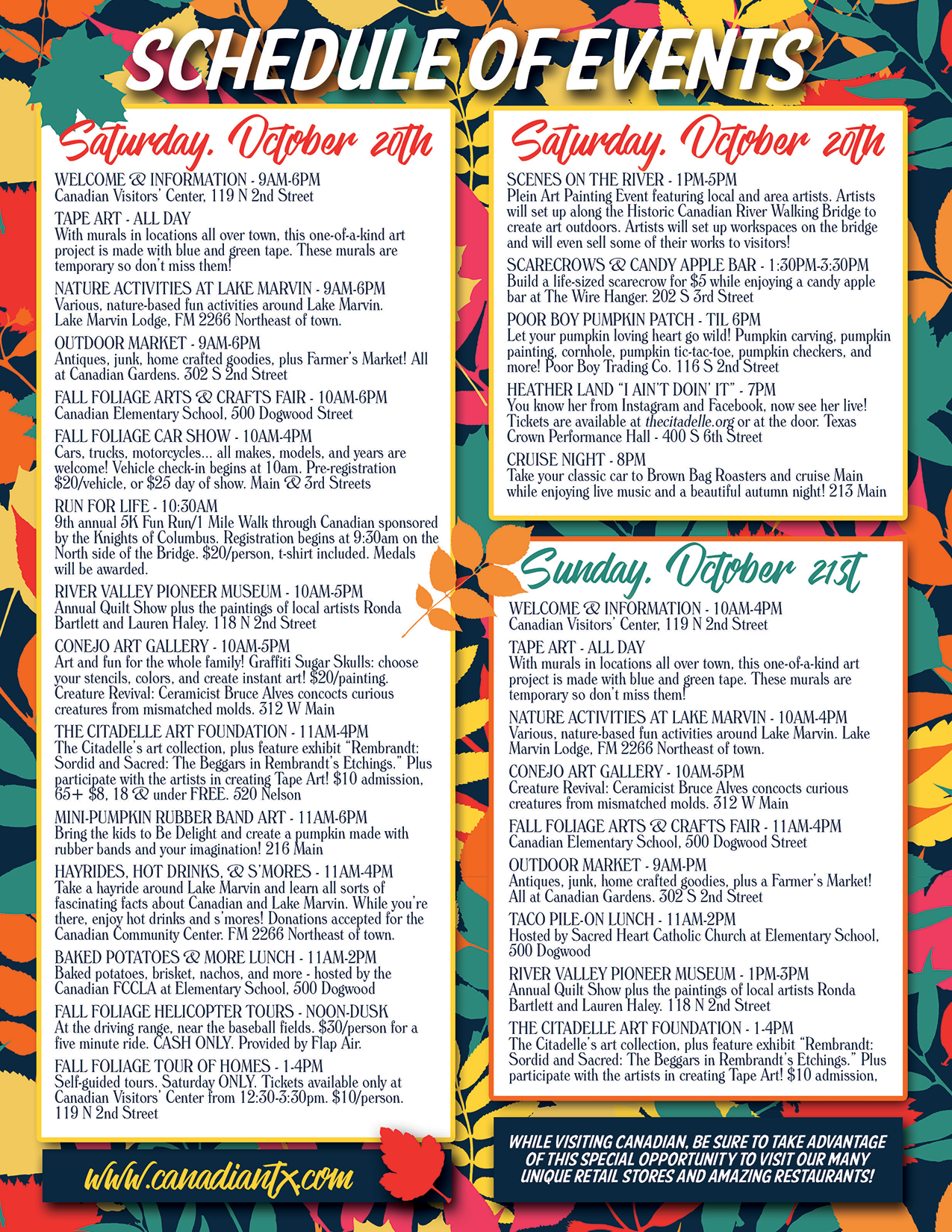 2018 fall festival events