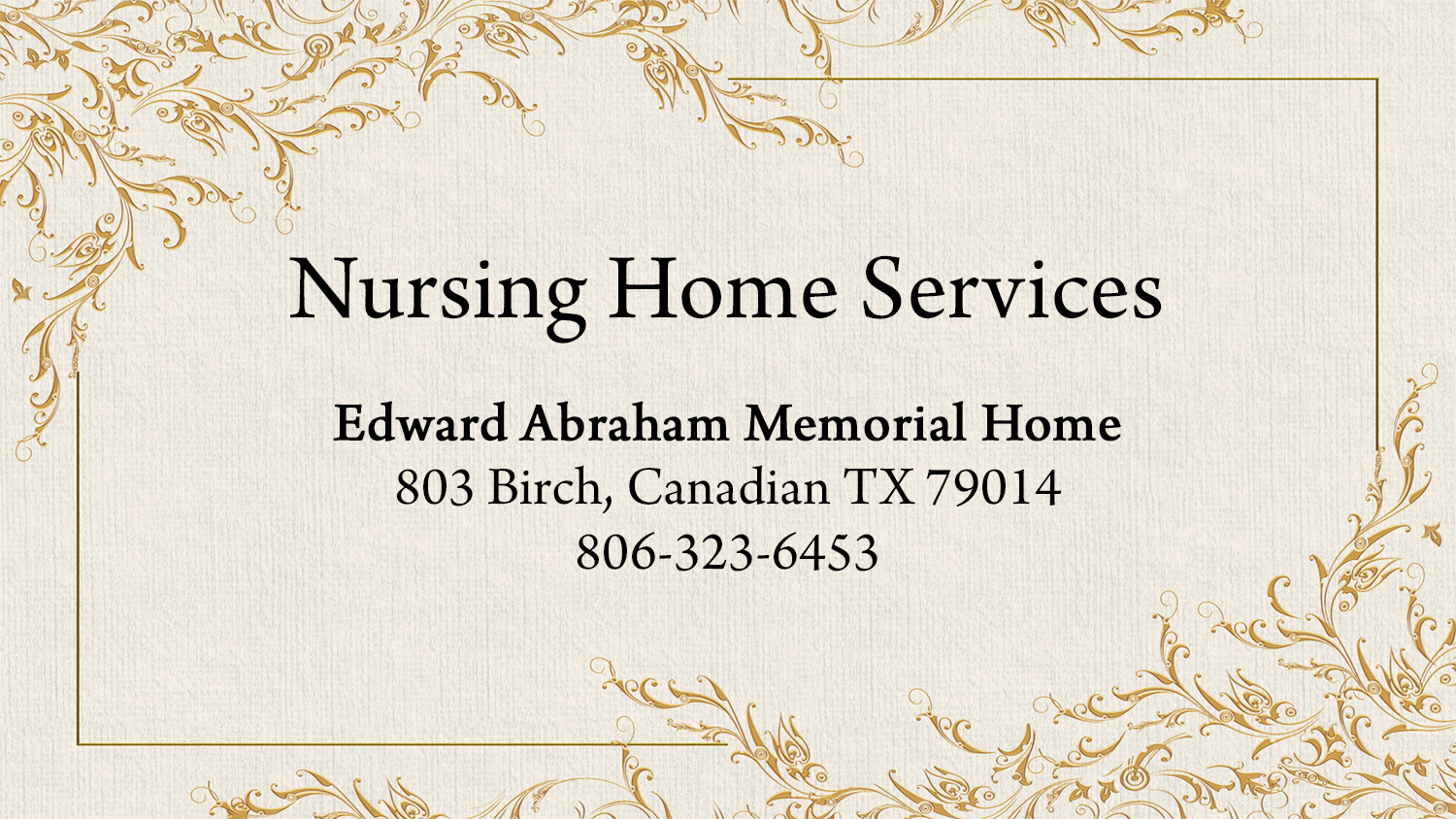 listings nursing home services
